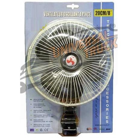 Ventilatore con Pinza a Molla 12-24 Volts