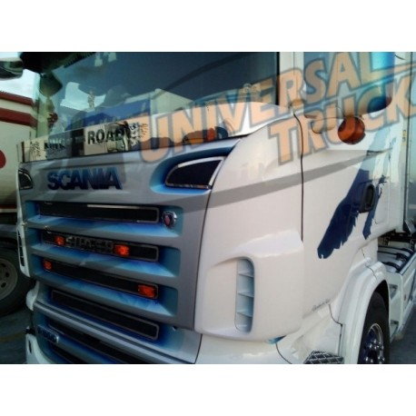 BARRA ACCIAIO PROTEGGI TERGI GRIFFIN E SCRITTA SUPERO KING OF THE ROAD SCANIA R 2004-2017