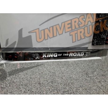 BARRA ACCIAIO PROTEGGI TERGI GRIFFIN E SCRITTA SUPER O KING OF THE ROAD SCANIA SERIE 4 1994-2004