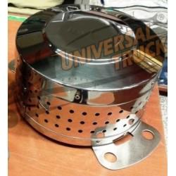 COPRIMOZZO ACCIAO INOX ALTEZZA CM 25 FORO 32 mm