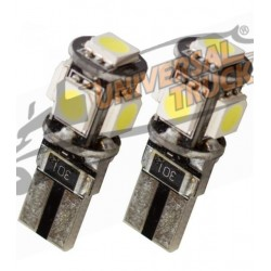 LAMPADINA LED TUTTO VETRO CANBUS 5 LED SMD 24volts