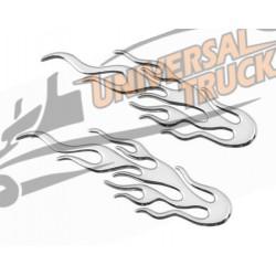Emblema 3D cromato - 2 Flames