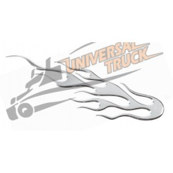 Emblema 3D cromato - Flame