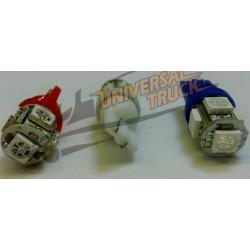 Lampadina a led con attacco T10-W2,1x9,5d con 5 led smd 5053