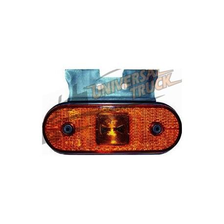 Luce laterale UNIPOINT arancione con staffa 90 e cavo da 0,25 m
