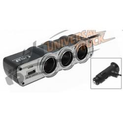 PRESA TRIPLA ACCENDISIGARI CON USB 12/24V