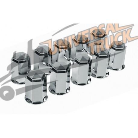 Set 10 copribulloni in ABS - Cromo