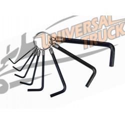 Set 8 pz chiavi esagonali maschio